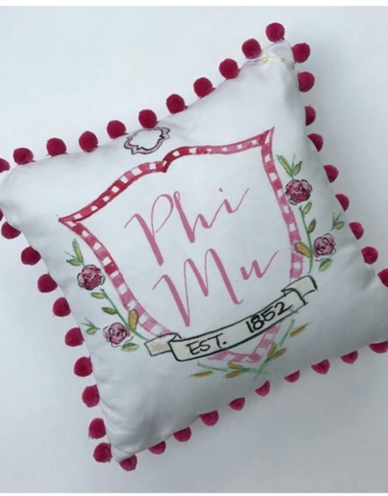 Over the Moon Phi Mu Pom Pillow