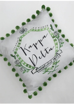 Over the Moon Kappa Delta Pom Pillow