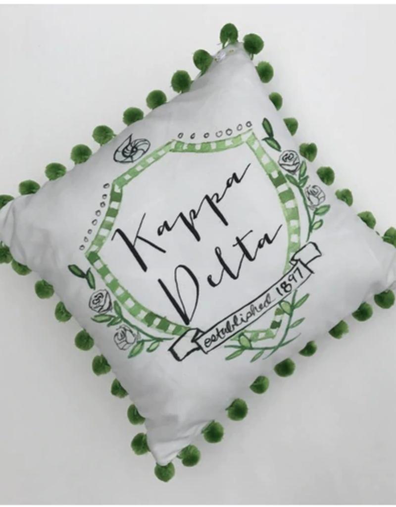 Over the Moon Kappa Delta Pom Pillow