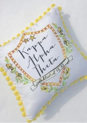 Over the Moon Kappa Alpha Theta Pom Pillow