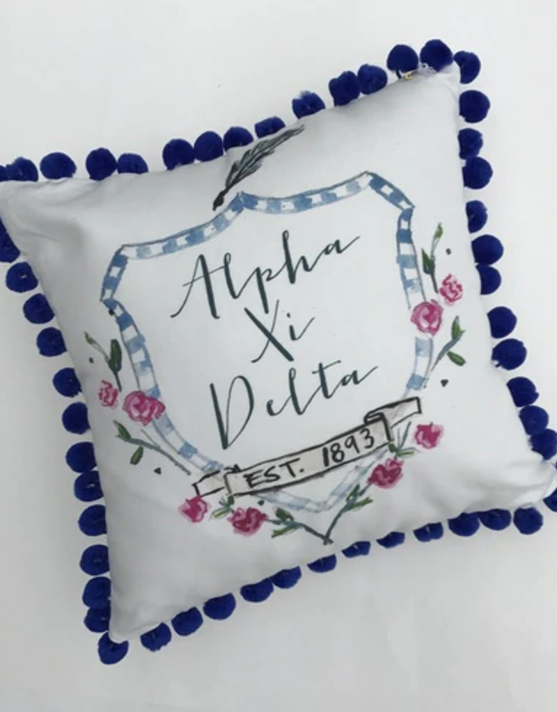 Over the Moon Alpha Xi Delta Pom Pillow