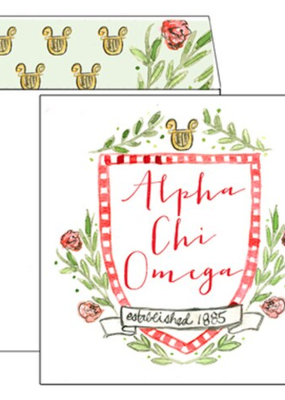 Over the Moon Alpha Chi Omega Square Card
