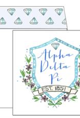 Over the Moon Alpha Delta Pi Square Card