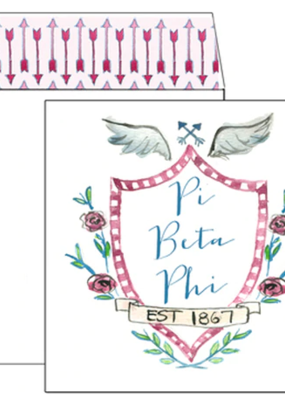 Over the Moon Pi Beta Phi Square Card