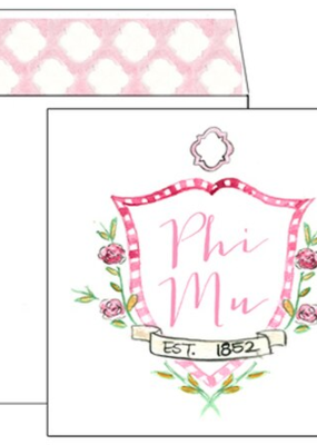 Over the Moon Phi Mu Square Card