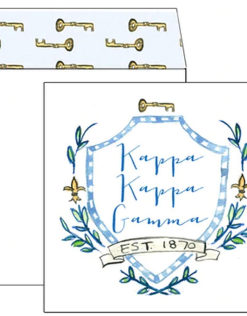 Over the Moon Kappa Kappa Gamma Square Card