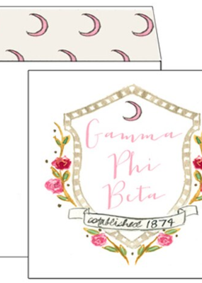 Over the Moon Gamma Phi Beta Square Card
