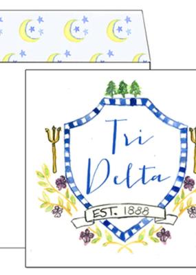 Over the Moon Delta Delta Delta Square Card