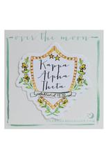 Over the Moon Kappa Alpha Theta Decal Motif