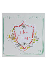 Over the Moon Chi Omega Decal Motif
