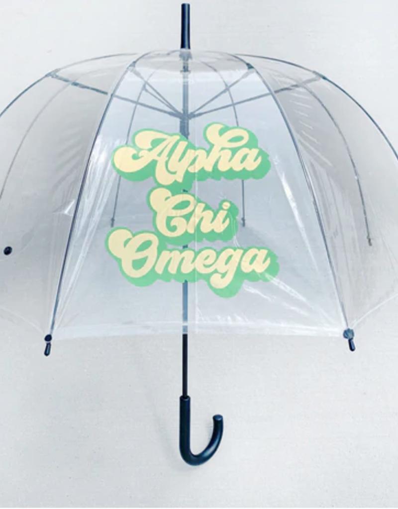 Over the Moon Alpha Chi Omega Dome Umbrella