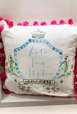 Over the Moon Zeta Tau Alpha Pom Pillow