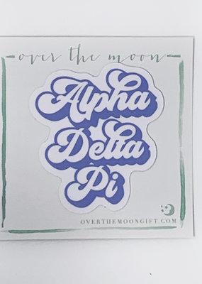 Alpha Delta Pi Retro Decal