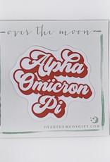 Alpha Omicron Pi Retro Decal