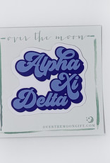 Alpha Xi Delta Retro Decal