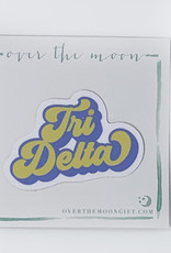 Delta Delta Delta Retro Decal