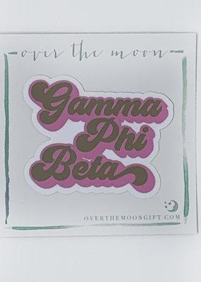 Gamma Phi Beta Retro Decal