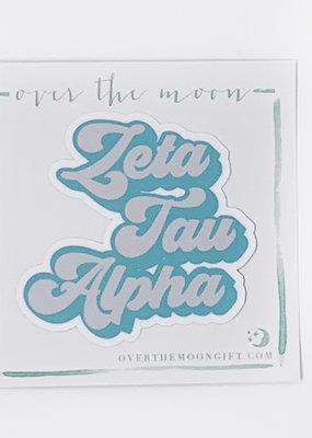 Zeta Tau Alpha Retro Decal
