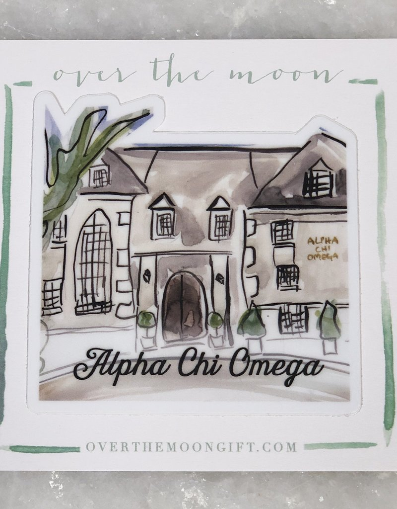 Alpha Chi Omega House Decal
