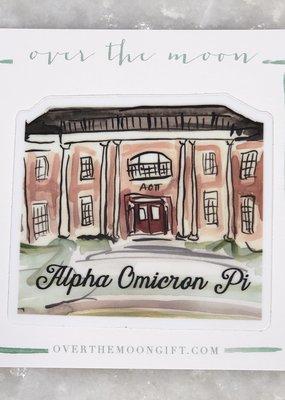 Alpha Omicron Pi House Decal