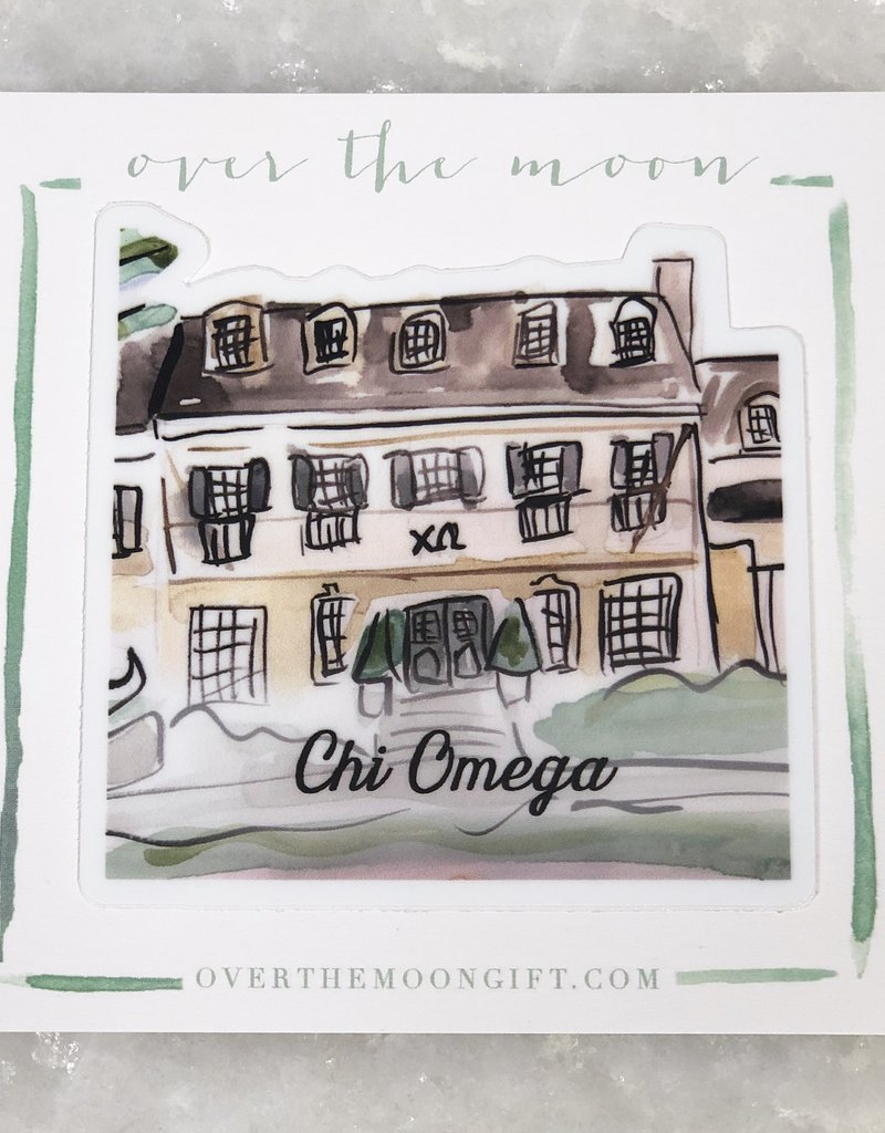 Chi Omega House Decal
