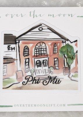 Phi Mu House Decal