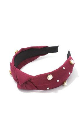 Meraki Manhattan Headband Burgundy