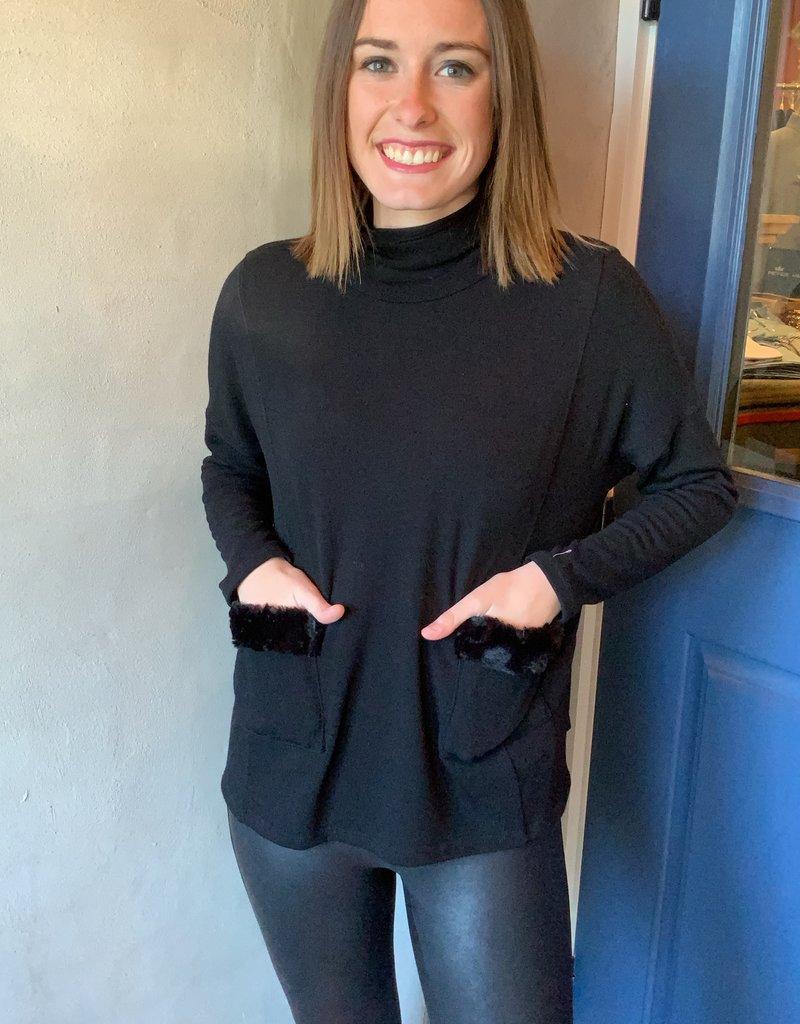 Karen Kane Faux Fur Sweater