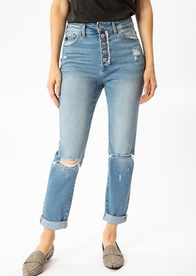 KanCan High Rise Cuffed Mom Jean