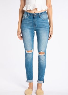 KanCan Gemma High Rise Double Cuffed Ankle Skinny