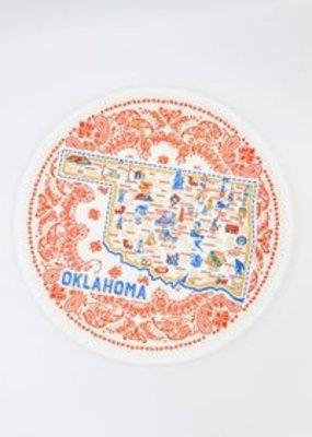 """One Hundred 80 Degrees Oklahoma Melamine Platter 16"""""""