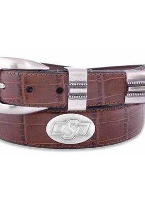 OSU Concho Croc Leather Belt
