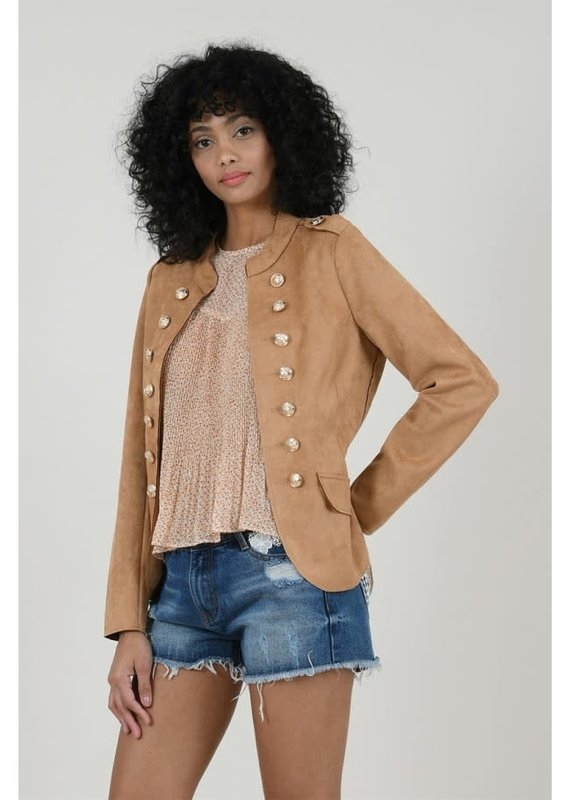 Molly Bracken Gold Buttoned Jacket