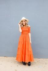 Compania Fantastica Smocked Midi Dress