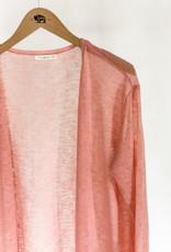 Buffalo Trading Co. Sheer Cardigan Dust Pink