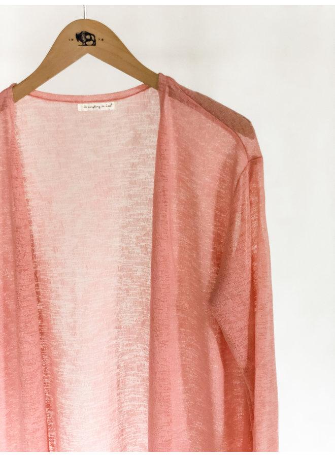 Sheer Cardigan Dust Pink