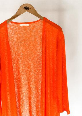 Buffalo Trading Co. Sheer Cardigan Orange