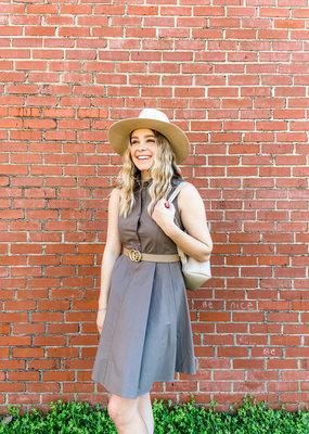 Molly Bracken Button Flare Dress