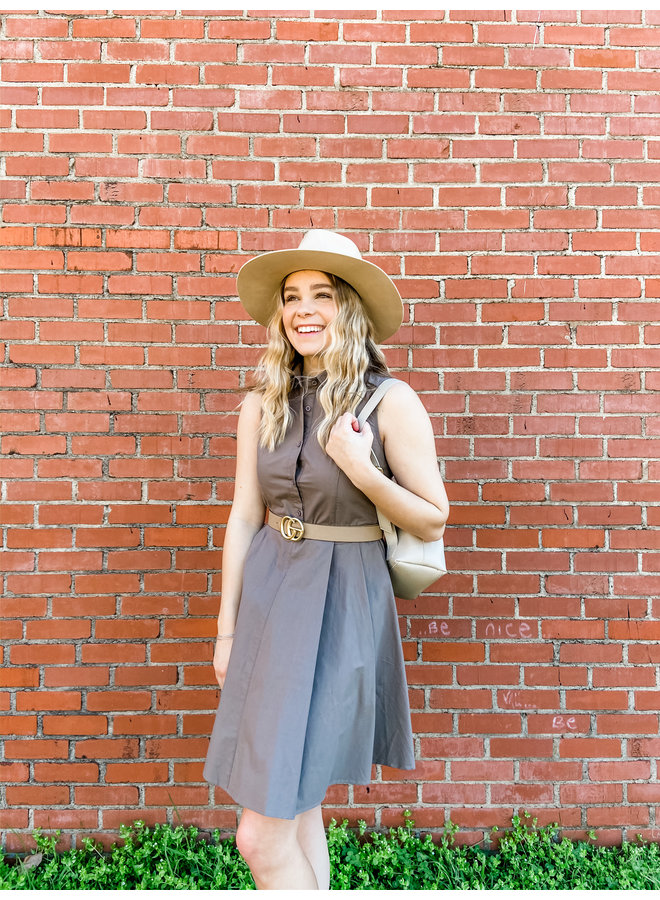 Button Flare Dress