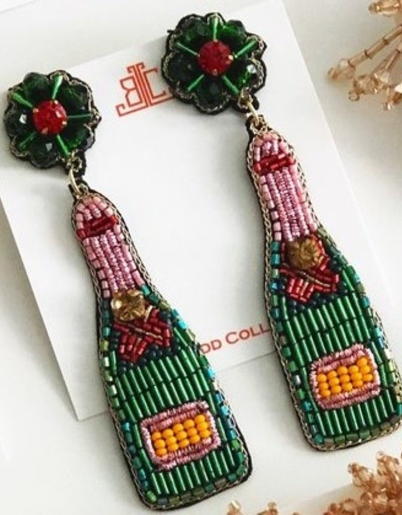 Beth Ladd Collections Champange Earring Green/Pink/Red
