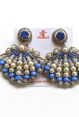 Beth Ladd Collections Shell Earring Periwinkle/Pearl