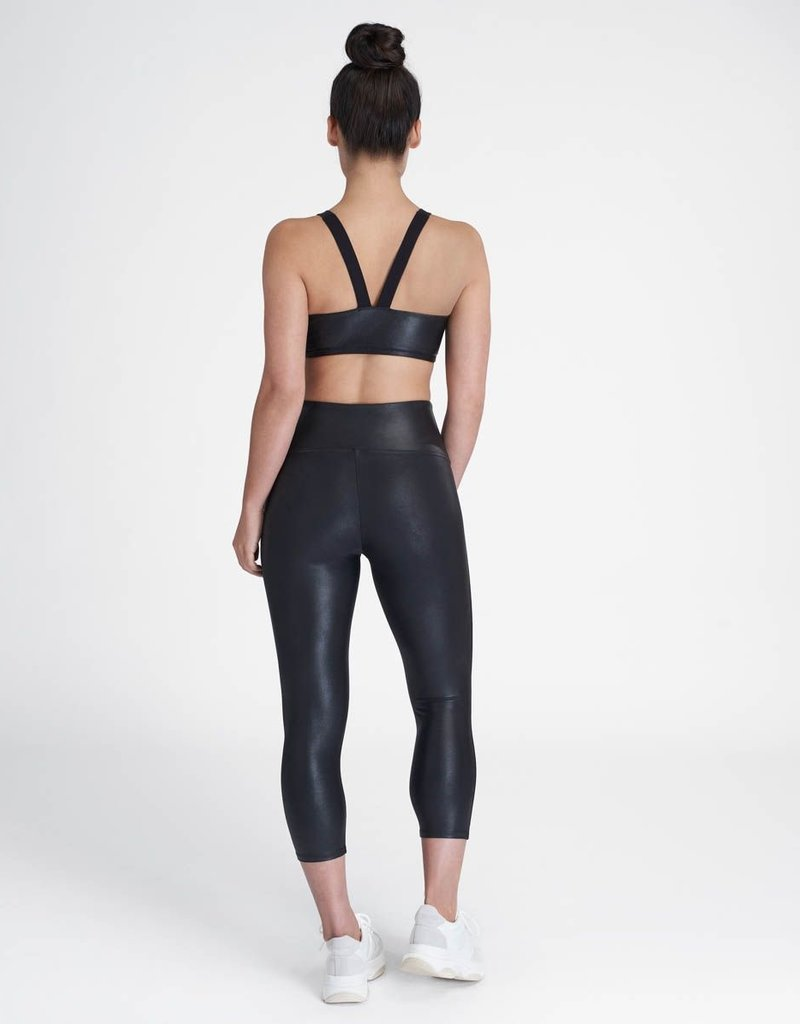 SPANX ® Active Crop Faux Leather Leggings