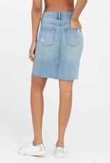 SPANX ® Distressed Denim Skirt