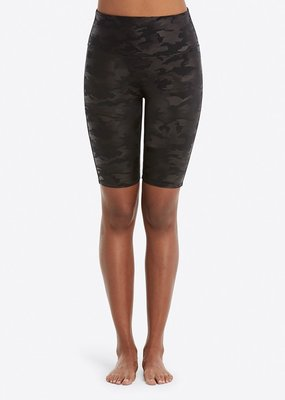 SPANX ® Faux Leather Bike Short