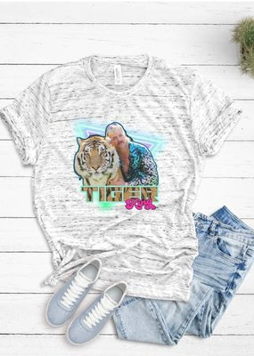 Glitter And Glam Neon Tiger King T-Shirt