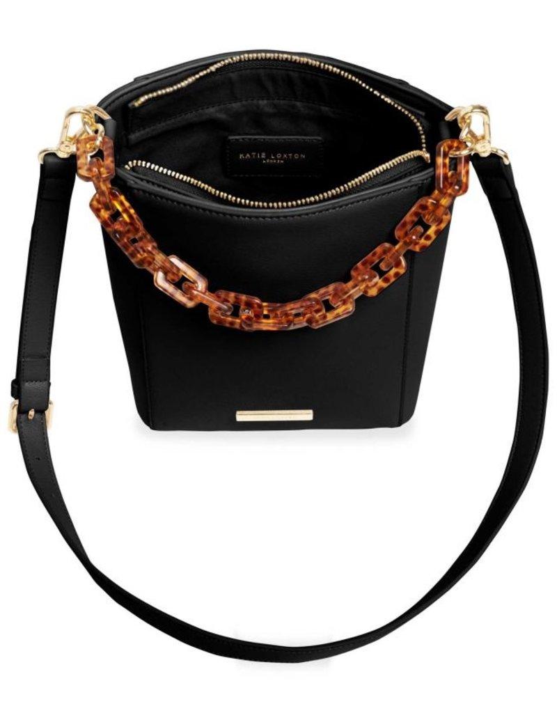 Katie Loxton Ayla Tortoiseshell Strap Bag Black
