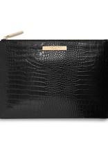 Katie Loxton Celine Croc Luxe Clutch Black