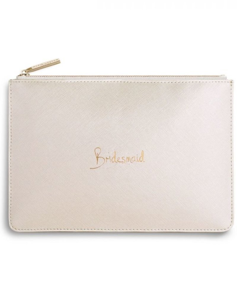 Perfect Pouch Metallic Bridesmaid White