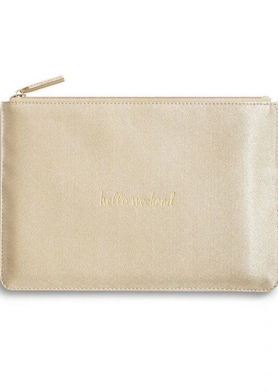 Katie Loxton Perfect Pouch Hello Weekend Gold