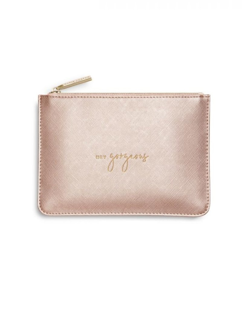 Katie Loxton Petite Perfect Pouch Hey Gorgeous Met Rose Gold